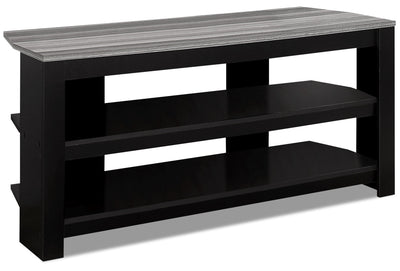 "Ira 42"" TV Stand - Black and Grey - {Traditional} style TV Stand in Black and grey"