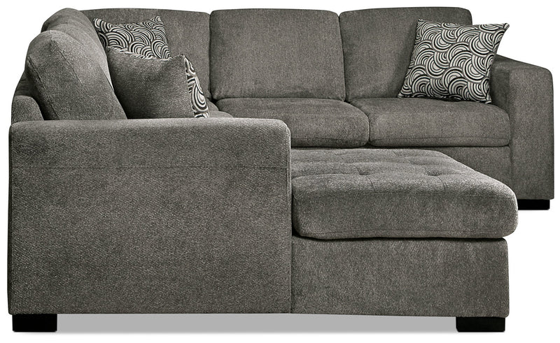 Izzy 3 Piece Chenille Left Facing Sectional With Sofa Bed