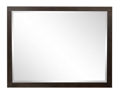 Jade Mirror - {Contemporary} style Mirror in Espresso {Poplar}, {Acacia}