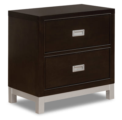 Jade Nightstand - {Contemporary} style Nightstand in Espresso {Poplar}, {Acacia}