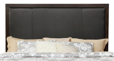 Jade King Headboard - {Contemporary} style Headboard in Espresso {Poplar}, {Acacia}