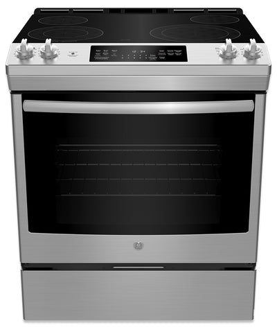 GE 5.3 Cu. Ft. Self-Clean Convection Slide-In Electric Range – JCS830SMSS - Electric Range in Stainless Steel