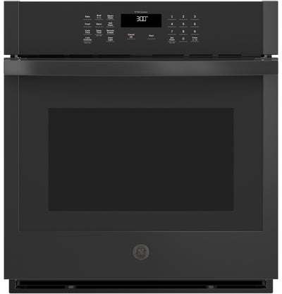 "GE 27"" 4.3 Cu. Ft. Smart Built-In Single Wall Oven - JKS3000DNBB - Electric Wall Oven in Black"
