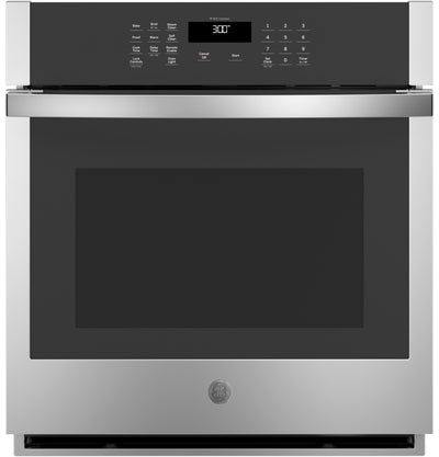 "GE 27"" 4.3 Cu. Ft. Smart Built-In Single Wall Oven - JKS3000SNSS - Electric Wall Oven in Stainless Steel"