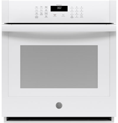 "GE 27"" 4.3 Cu. Ft. Smart Built-In Single Wall Oven - JKS3000DNWW - Electric Wall Oven in White"