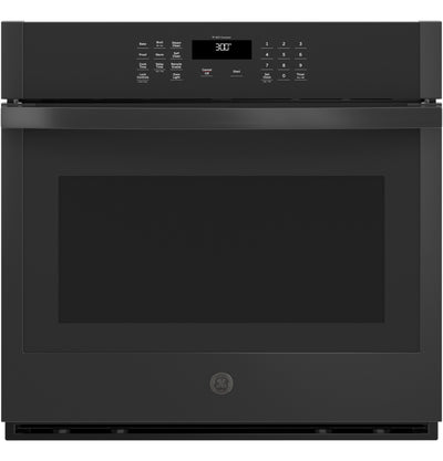 "GE 30"" 5.0 Cu. Ft. Smart Built-In Single Wall Oven - JTS3000DNBB - Electric Wall Oven in Black"