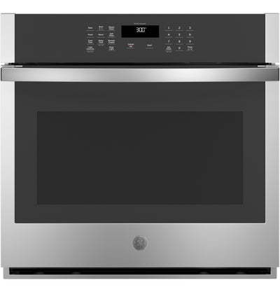 "GE 30"" 5.0 Cu. Ft. Smart Built-In Single Wall Oven - JTS3000SNSS - Electric Wall Oven in Stainless Steel"