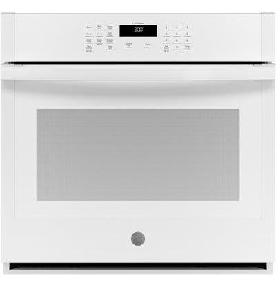 "GE 30"" 5.0 Cu. Ft. Smart Built-In Single Wall Oven - JTS3000DNWW - Electric Wall Oven in White"