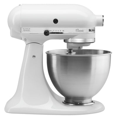 KitchenAid Classic Series 4.5-Quart Tilt-Head Stand Mixer - K45SSWH|Batteur sur socle à tête inclinable KitchenAid de série ClassicMD de 4,5 pintes - K45SSWH|K45SSTWH