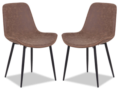 Kaia Accent Dining Chair, Set of 2 - Brown|Chaise de salle à manger Kaia, ensemble de 2 - brune|KAIACDSP