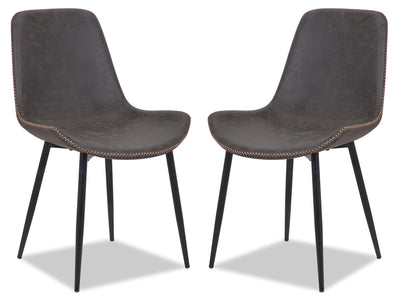 Kaia Accent Dining Chair, Set of 2 - Grey|Chaise de salle à manger Kaia, ensemble de 2 - grise|KAIAGDSP