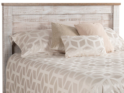 Kaia King Headboard - {Country} style Headboard in Whitewash {Engineered Wood}