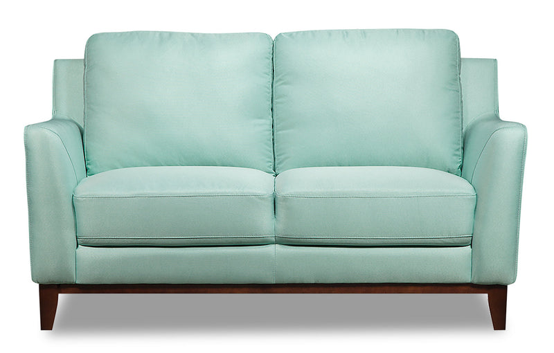 Kamara Linen-Look Loveseat - Blue|Causeuse Kamara d'apparence lin - bleue