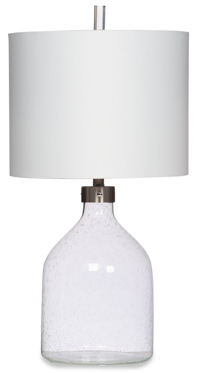 Karlee Seeded Glass Table Lamp|Lampe de table Karlee en verre à petites bulles|KARLEETL