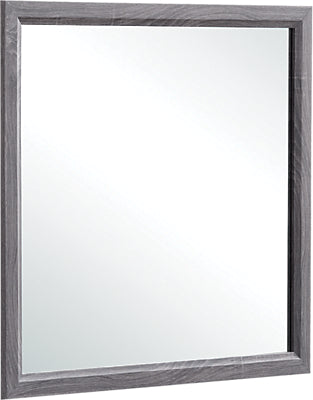 Kate Mirror - Contemporary style Mirror in Grey Brown Rubberwood Solids and Medium Density Fiberboard