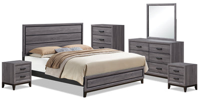 Kate 8-Piece Queen Bedroom Package|Ensemble de chambre à coucher Kate 8 pièces avec grand lit|KATEGQP8