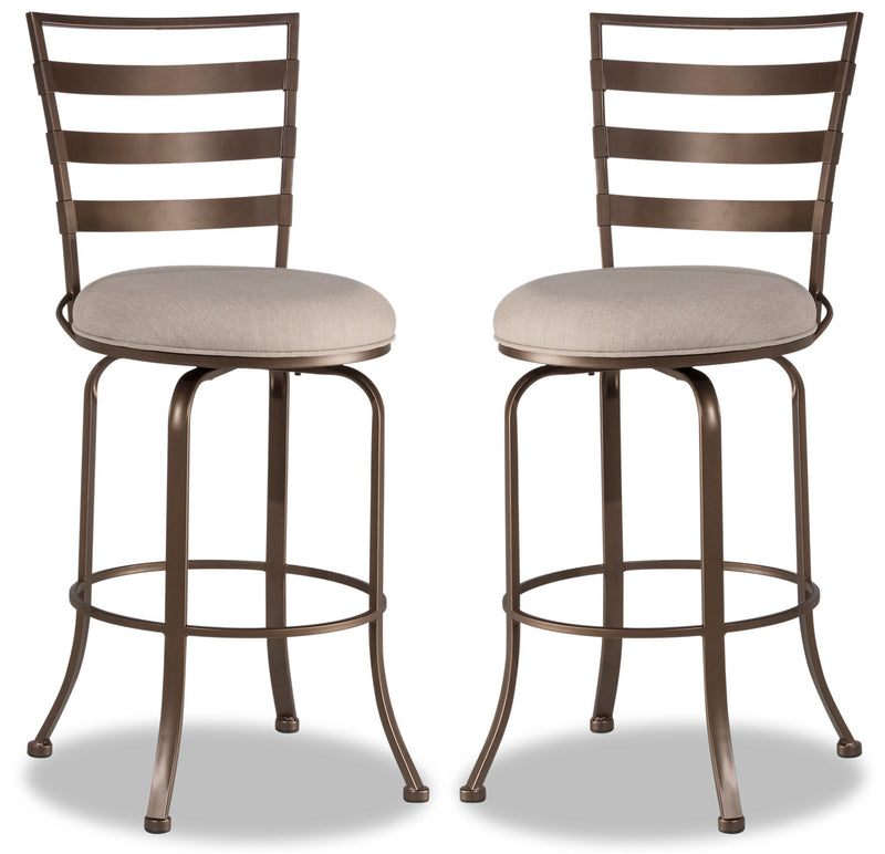 Kaufman Counter-Height Bar Stool, Set of 2 - {Modern} style Bar Stool in Brown {Steel}