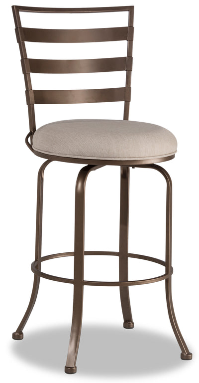 Kaufman Counter-Height Bar Stool - {Modern} style Bar Stool in Brown {Steel}