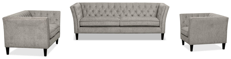 The Brick Kayln Chenille Sofa – Charcoal