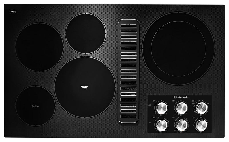 "KitchenAid 36"" Electric Downdraft Cooktop - KCED606GBL