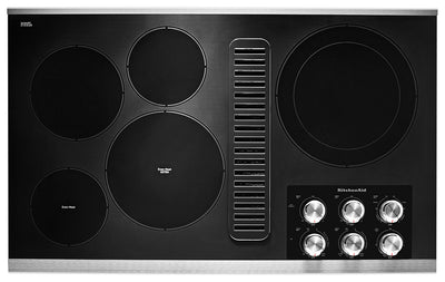 "KitchenAid 36"" Electric Downdraft Cooktop - KCED606GSS