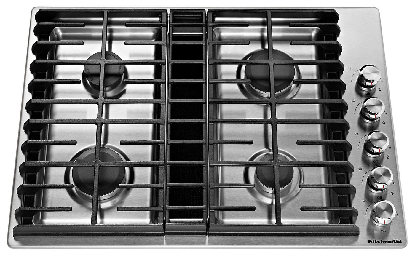 Fabulous Kitchenaid 30 4 Burner Gas Downdraft Cooktop Kcgd500Gss Download Free Architecture Designs Lectubocepmadebymaigaardcom