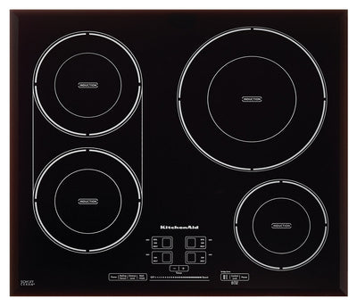 "KitchenAid 24"" Four Element Induction Cooktop - KCIG704FBL