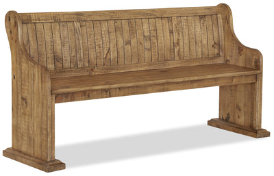 Keswick Dining Bench - Traditional style Dining Bench in Weathered Barley Pine