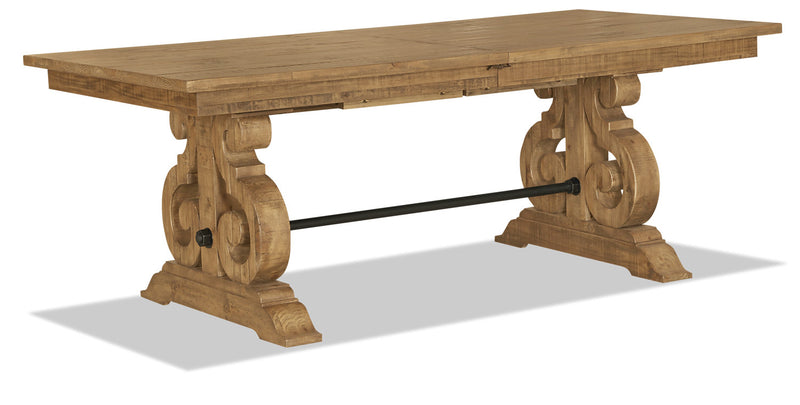 Keswick Dining Table - Traditional style Dining Table in Weathered Barley Pine