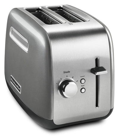 KitchenAid Two-Slice Toaster with 5 Shade Settings- KMT2115CU - Toaster in Contour Silver