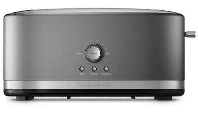 KitchenAid Four-Slice Long Slot Toaster - KMT4116CU - Toaster in Contour Silver