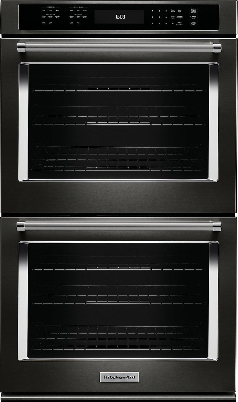 "KitchenAid 27"" Double Wall Oven with Even-Heat True Convection - KODE507EBS