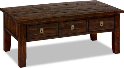 Kona Grove Coffee Table - Rustic style Coffee Table in Dark Brown Wood