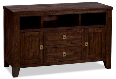 "Kona Grove 50"" TV Stand - Rustic style TV Stand in Dark Brown Wood"