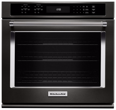 KitchenAid 4.3 Cu. Ft. Single Wall Oven with Even-Heat™ True Convection - KOSE507EBS|Four mural simple KitchenAid de 4,3 pi³ à convection véritable Even-Heat(MC) - KOSE507EBS|KOSE57BS