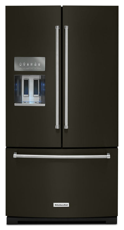 KitchenAid 26.8 Cu. Ft. French Door Refrigerator - KRFF507HBS - Refrigerator in Black Stainless Steel with PrintShield™ Finish