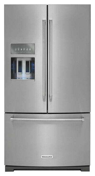 KitchenAid 26.8 Cu. Ft. French Door Refrigerator - KRFF507HPS - Refrigerator in Stainless Steel with PrintShield™ Finish