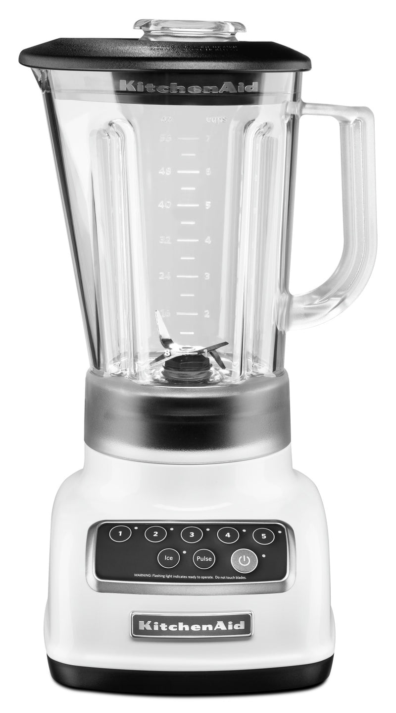 KitchenAid Five-Speed Classic Blender - KSB1570WH|Mélangeur classique à cinq vitesses KitchenAid - KSB1570WH|KSB1570W