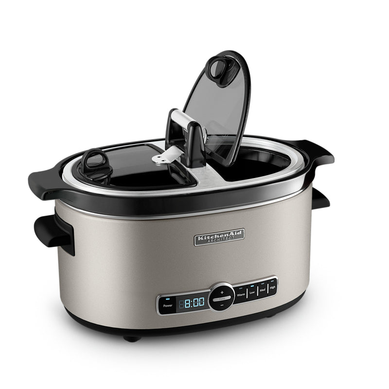 KitchenAid Architect Series 6-Quart Slow Cooker with Easy Serve Lid - KSC6222ACS|Mijoteuse KitchenAid ArchitectMD de 6 pintes avec couvercle Easy Serve - KSC6222ACS