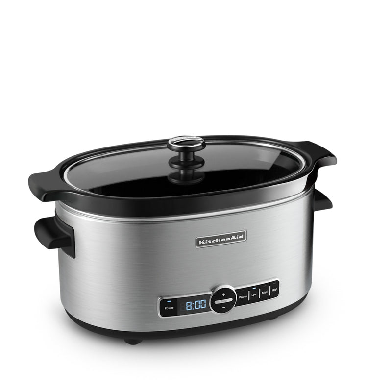 KitchenAid 6-Quart Slow Cooker with Solid Glass Lid - KSC6223SS|Mijoteuse KitchenAid de 6 pintes de la série Architect avec couvercle en verre solide - KSC6223SS|KSC6223S