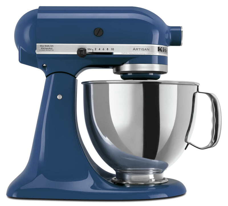 KitchenAid Artisan Series 5-Quart Tilt-Head Stand Mixer - KSM150PSBW|Batteur sur socle à tête inclinable KitchenAid de 5 pintes de la série Artisan - KSM150PSBW|KSM150BW