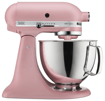 KitchenAid Artisan Series 5-Quart Tilt-Head Stand Mixer - KSM150PSDR - Mixer in Matte Dried Rose