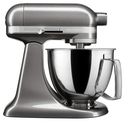 KitchenAid Artisan Mini 3.5-Quart Tilt-Head Stand Mixer - KSM3316XMS|Mini batteur sur socle à tête inclinable KitchenAid de série Artisan de 3,5 pintes - KSM3316XMS|KSM3316S