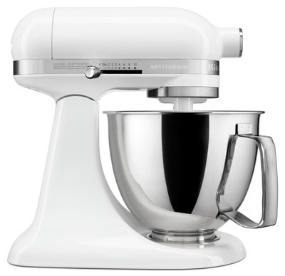 KitchenAid Artisan Mini 3.5-Quart Tilt-Head Stand Mixer - KSM3316XWH|Mini batteur sur socle à tête inclinable KitchenAid de série Artisan de 3,5 pintes - KSM3316XWH|KSM3316W