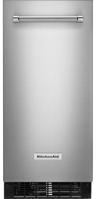 "KitchenAid 15"" Automatic Ice Maker - KUIX335HPS - Ice Maker in Stainless Steel with PrintShield™ Finish"