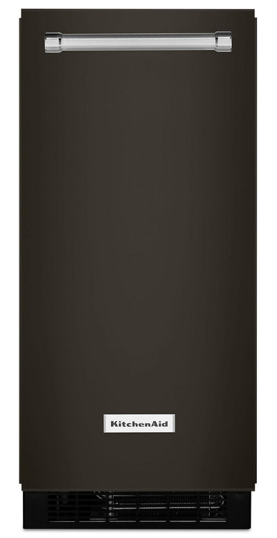 "KitchenAid 15"" Automatic Ice Maker - KUIX535HBS - Ice Maker in Black Stainless Steel with PrintShield™ Finish"
