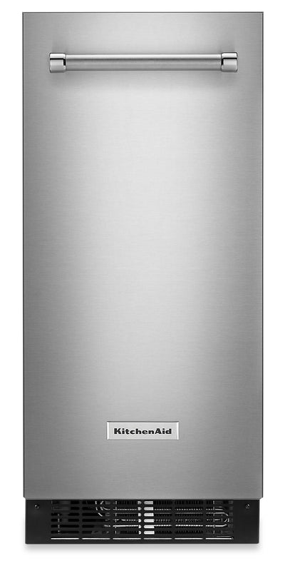 "KitchenAid 15"" Automatic Ice Maker - KUIX535HPS - Ice Maker in Stainless Steel with PrintShield™ Finish"