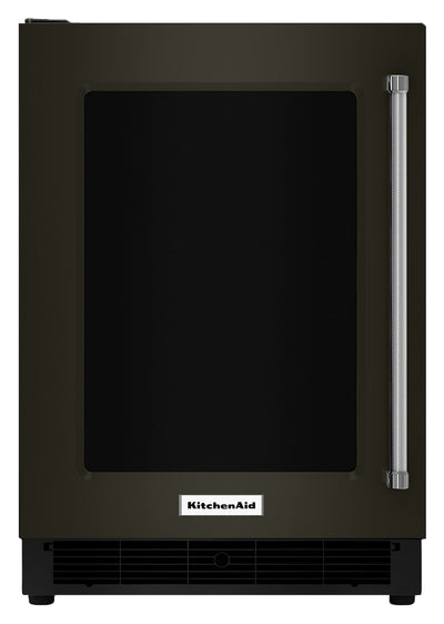KitchenAid 5.1 Cu. Ft. Undercounter Refrigerator with Left-Door Swing – KURL304EBS - Refrigerator in Black Stainless Steel