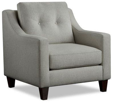 Kylie Linen-Look Fabric Chair - Zeus Grey - {Contemporary} style Chair in Zeus Grey {Engineered Wood}, {Solid Hardwoods}