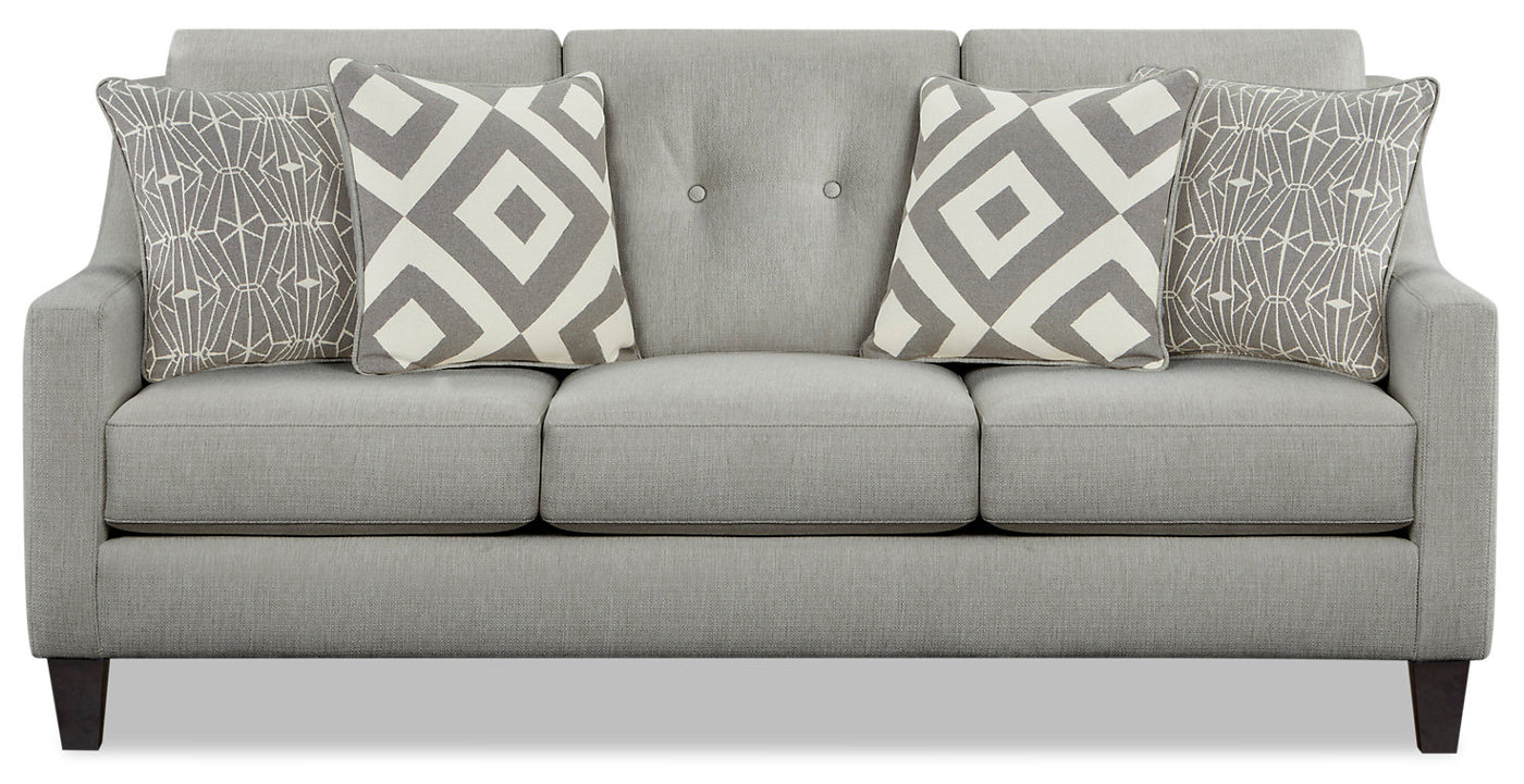 Miraculous Kylie Linen Look Fabric Sofa Zeus Grey Creativecarmelina Interior Chair Design Creativecarmelinacom